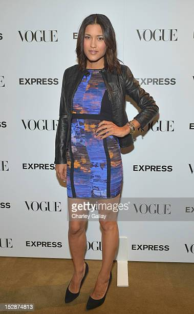Actress Julia Jones attends Express And Vogue Celebrate 'The Scenemakers' at Chateau Marmont on September 27 2012 in Los Angeles California