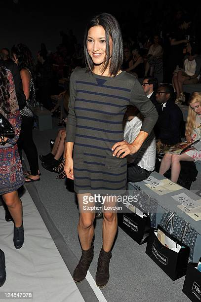 Actress Julia Jones attends the Charlotte Ronson Spring 2012 fashion show during MercedesBenz Fashion Week at The Stage at Lincoln Center on...