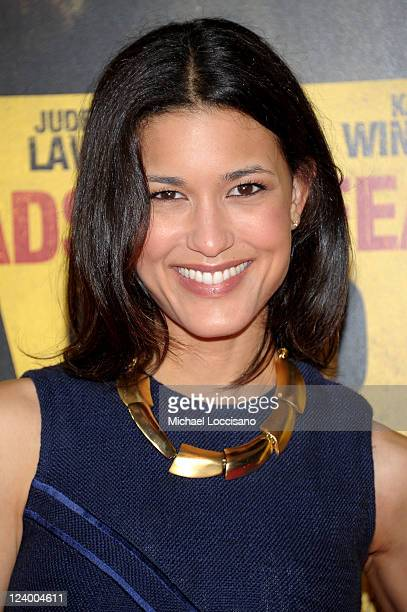 Actress Julia Jones attends the Contagion premiere at the Rose Theater Jazz at Lincoln Center on September 7 2011 in New York City