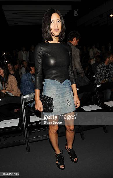 Actress Julia Jones attends the Diesel Black Gold Spring 2011 fashion show during MercedesBenz Fashion Week at Pier 92 on September 13 2010 in New...