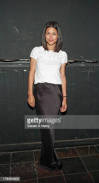Actress Julia Jones attends the 'Everything Is Ours' Opening Night after party at The Emerald Pub on September 3 2013 in New York City