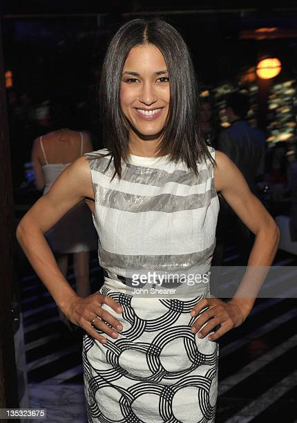 Actress Julia Jones attends The Hollywood Foreign Press Association and InStyle Celebrate 'A Night of Firsts' and The New Miss Golden Globe 2012 at...