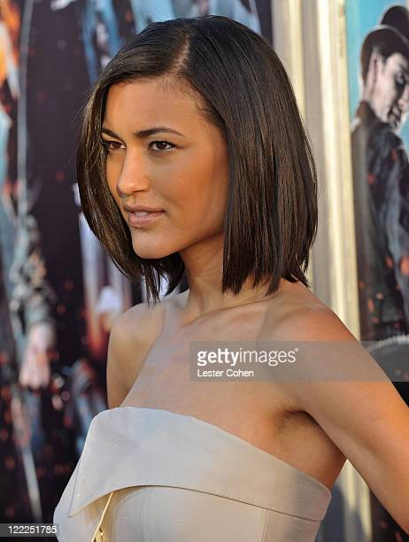 Actress Julia Jones attends the 'Jonah Hex' Los Angeles premiere held at ArcLight Cinemas Cinerama Dome on June 17 2010 in Hollywood California