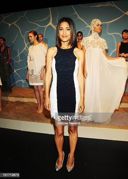 Actress Julia Jones attends the Joy Cioci presentation during Spring 2013 MercedesBenz Fashion Week at The Box Lincoln Center on September 10 2012 in...