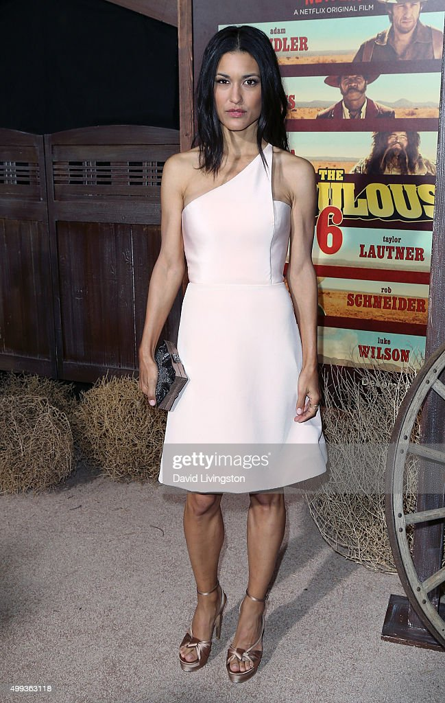 Actress Julia Jones attends the Los Angeles premiere of Netflix's 'The Ridiculous 6' at AMC Universal City Walk on November 30, 2015 in Universal City, California.
