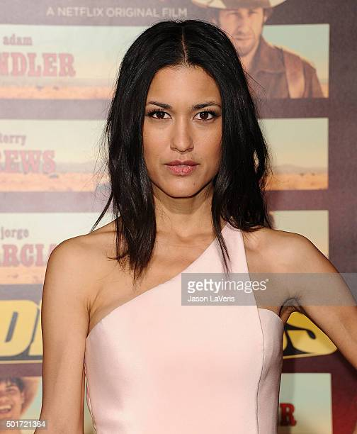 Actress Julia Jones attends the premiere of 'The Ridiculous 6' at AMC Universal City Walk on November 30 2015 in Universal City California