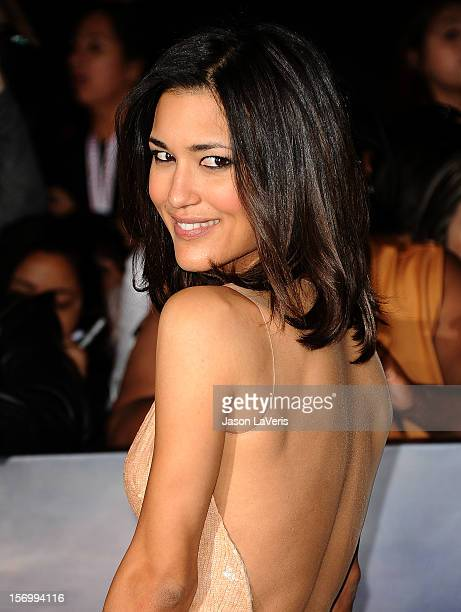Actress Julia Jones attends the premiere of The Twilight Saga Breaking Dawn Part 2 at Nokia Theatre LA Live on November 12 2012 in Los Angeles...