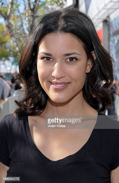 Actress Julia Jones attends the Twilight Fan Camp Breakfast at LA LIVE on November 11 2012 in Los Angeles California