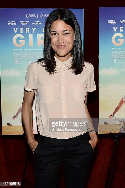 Actress Julia Jones attends the 'Very Good Girls' premiere at the Tribeca Grand Hotel on July 21 2014 in New York City