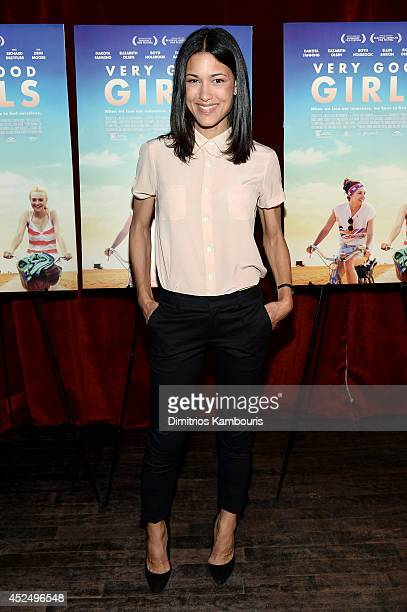 Actress Julia Jones attends the Very Good Girls premiere at the Tribeca Grand Hotel on July 21 2014 in New York City
