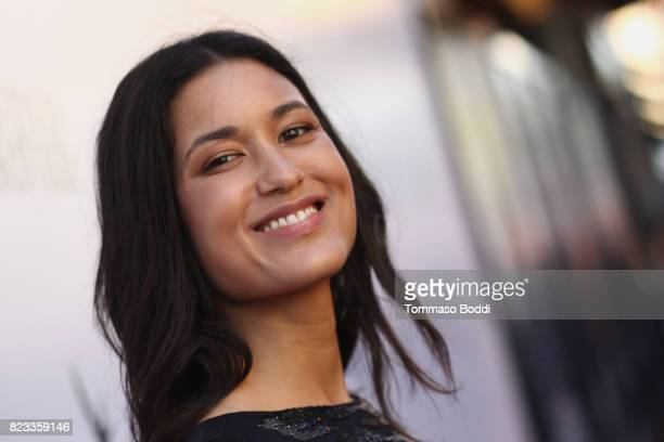 Actress Julia Jones attends the Wind River Los Angeles Premiere presented in partnership with FIJI Water at Ace Hotel Los Angeles on July 26 2017 in...