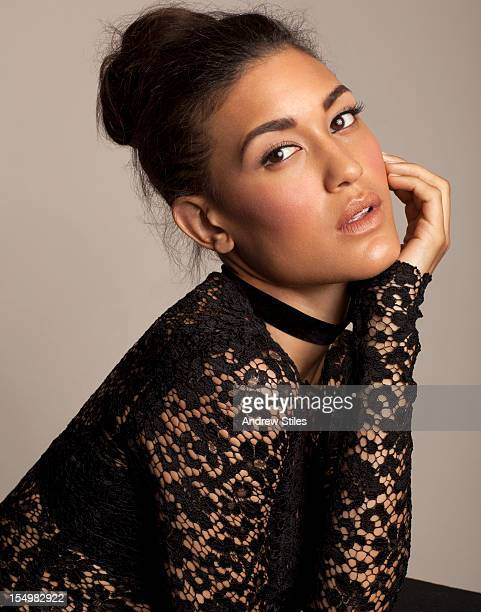 Actress Julia Jones is photographed for Self Assignment on August 2 2011 in Santa Monica California