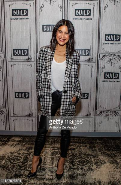 Actress Julia Jones poses for photos before talking about her movie 'Cold Pursuit' at Build Studio on February 05 2019 in New York City