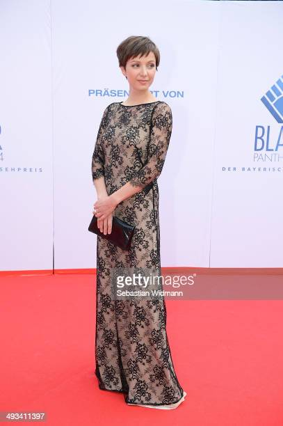Actress Julia Koschitz arrives for the taping of the 'Bayerischer Fernsehpreis 2014' at Prinzregententheater on May 23 2014 in Munich Germany