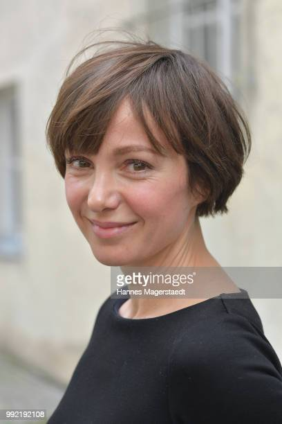 Actress Julia Koschitz attends the FFF reception during the Munich Film Festival 2018 at Praterinsel on July 5 2018 in Munich Germany