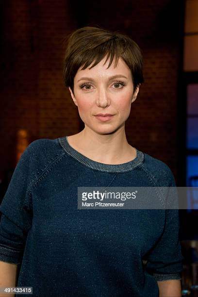 Actress Julia Koschitz attends the 'Koelner Treff' TV Show at the WDR Studio on May 16, 2014 in Cologne, Germany.