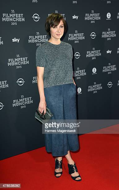 Actress Julia Koschitz attends the Opening Night of the Munich Film Festival 2015 at Mathaeser Filmpalast on June 25 2015 in Munich Germany