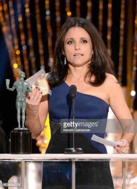 Actress Julia Louis-Dreyfus accepts the Outstanding Performance by a Female Actor in a Comedy Series award for 'Veep' onstage during the 20th Annual...
