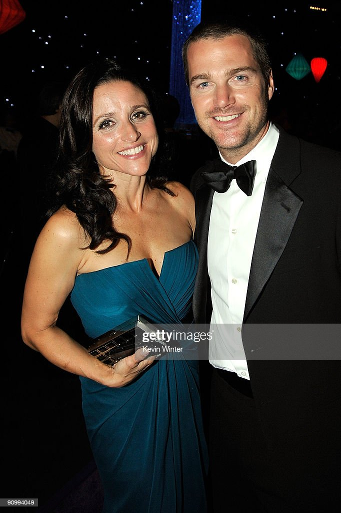 Actress Julia Louis-Dreyfus and actor Chris O' Donnell attend the Governors Ball for the 61st Primetime Emmy Awards held at the Los Angeles Convention Center on September 20, 2009 in Los Angeles, California.