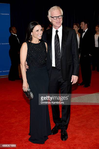 Actress Julia LouisDreyfus and Brad Hall attend the 100th Annual White House Correspondents' Association Dinner at the Washington Hilton on May 3...