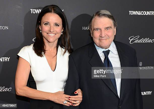 Actress Julia LouisDreyfus and father William LouisDreyfus attend the Town Country screening of the Generosity of Eye at Walter Reade Theater on May...