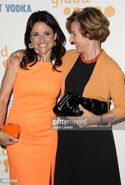 Actress Julia LouisDreyfus and her mother attend the 20th Annual GLAAD Media Awards at The Nokia Theater on April 18 2009 in Los Angeles California