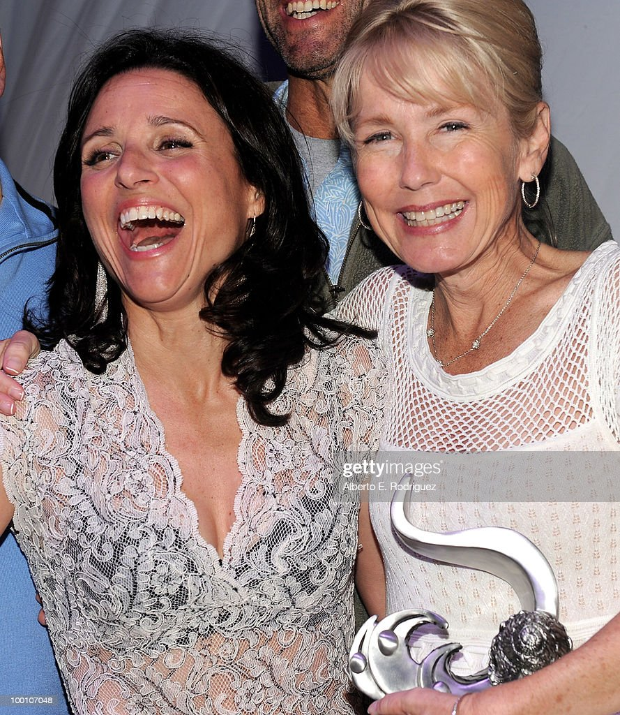 Actress Julia Louis-Dreyfus and honoree Luann Laval Williams attend Heal the Bay's 25th annual 'Night Under the Stars' on May 20, 2010 in Santa Monica, California.