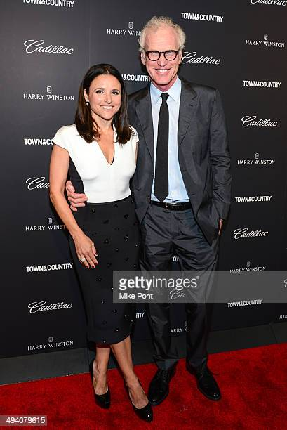 Actress Julia LouisDreyfus and husband Brad Hall attend the Town Country screening of the 'Generosity of Eye' at Walter Reade Theater on May 27 2014...