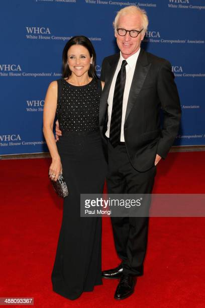 Actress Julia LouisDreyfus and Writer Brad Hall attend the 100th Annual White House Correspondents' Association Dinner at the Washington Hilton on...