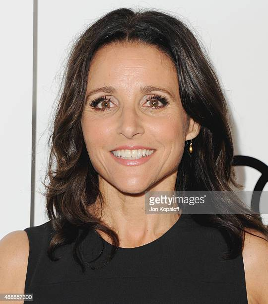 Actress Julia LouisDreyfus arrives at Audi Celebrates Emmys Week 2015 at Cecconi's on September 17 2015 in West Hollywood California