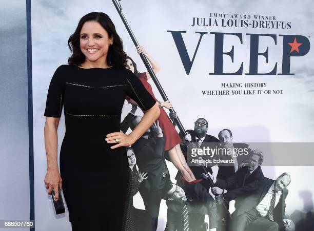 "Actress Julia Louis-Dreyfus arrives at HBO's ""Veep"" FYC Event at the Saban Media Center on May 25, 2017 in North Hollywood, California."