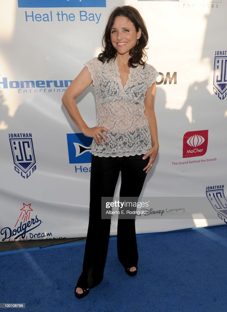 Actress Julia Louis-Dreyfus arrives at Heal the Bay's 25th annual 'Night Under the Stars' on May 20, 2010 in Santa Monica, California.
