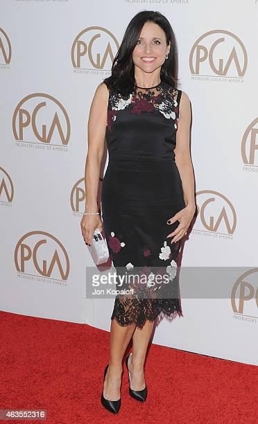 Actress Julia LouisDreyfus arrives at the 26th Annual PGA Awards at the Hyatt Regency Century Plaza on January 24 2015 in Los Angeles California