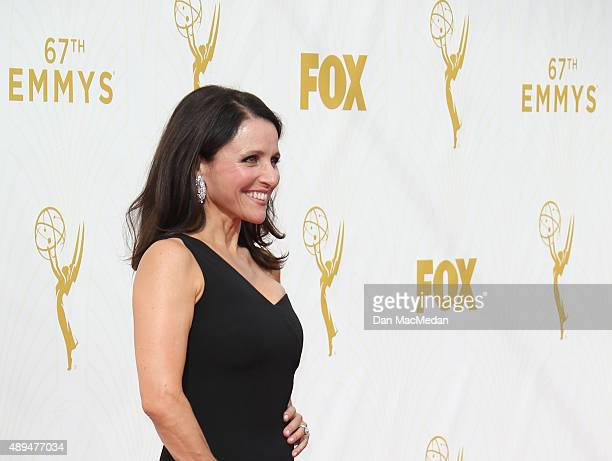 Actress Julia LouisDreyfus arrives at the 67th Annual Primetime Emmy Awards at the Microsoft Theater on September 20 2015 in Los Angeles California
