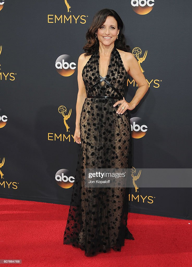 Actress Julia Louis-Dreyfus arrives at the 68th Annual Primetime Emmy Awards at Microsoft Theater on September 18, 2016 in Los Angeles, California.