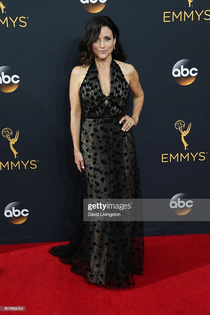 Actress Julia Louis-Dreyfus arrives at the 68th Annual Primetime Emmy Awards at the Microsoft Theater on September 18, 2016 in Los Angeles, California.