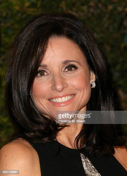 Actress Julia LouisDreyfus arrives at the Academy of Motion Picture Arts and Sciences' Governors Awards at The Ray Dolby Ballroom at Hollywood...