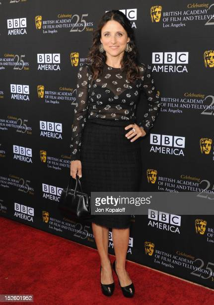 Actress Julia Louis-Dreyfus arrives at the BAFTA Los Angeles TV Tea 2012 Presented By BBC America at The London Hotel on September 22, 2012 in West...
