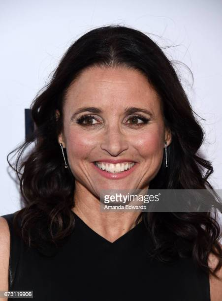 Actress Julia Louis-Dreyfus arrives at the Natural Resources Defense Council's STAND UP! event at the Wallis Annenberg Center for the Performing Arts...