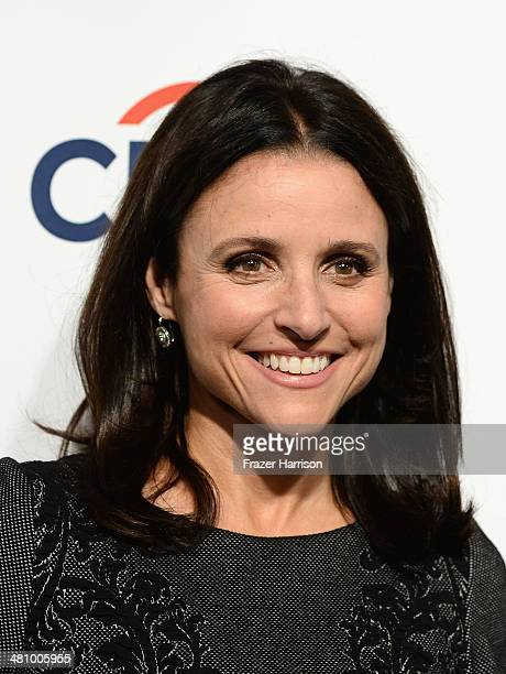 Actress Julia LouisDreyfus arrives at The Paley Center For Media's PaleyFest 2014 Honoring 'Veep' at Dolby Theatre on March 27 2014 in Hollywood...