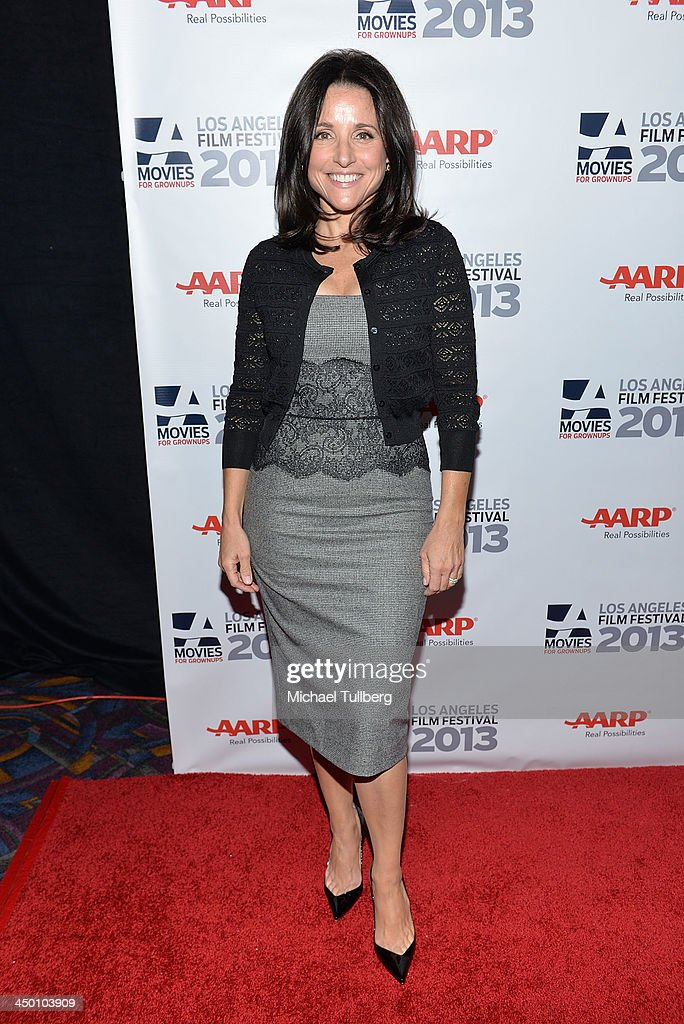 Actress Julia Louis-Dreyfus attends a screening of the film 'Enough Said' at AARP's Movies For Grownups Film Festival 2013 at Regal Cinemas L.A. Live on November 16, 2013 in Los Angeles, California.