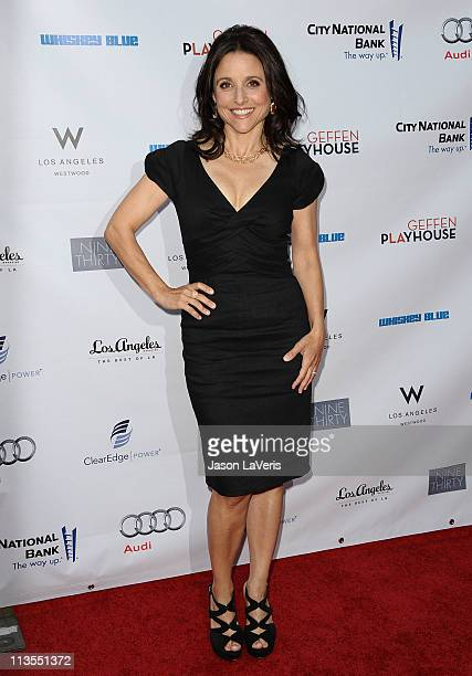 Actress Julia LouisDreyfus attends Geffen Playhouse's annual fundraiser Backstage at the Geffen at Geffen Playhouse on May 2 2011 in Los Angeles...