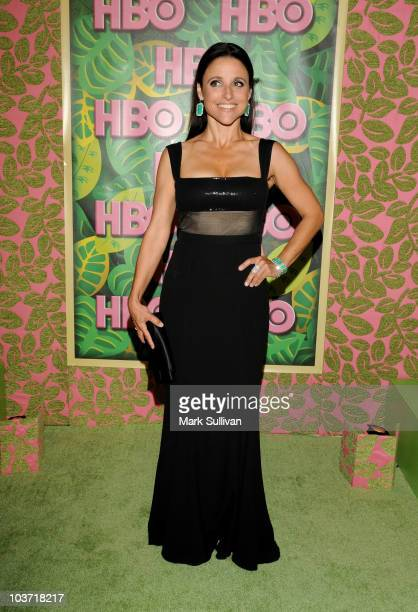 Actress Julia LouisDreyfus attends HBO after party for the 62nd Primetime Emmy Awards at Pacific Design Center on August 29 2010 in West Hollywood...