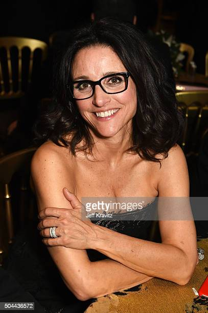 Actress Julia LouisDreyfus attends HBO's Official Golden Globe Awards After Party at The Beverly Hilton Hotel on January 10 2016 in Beverly Hills...