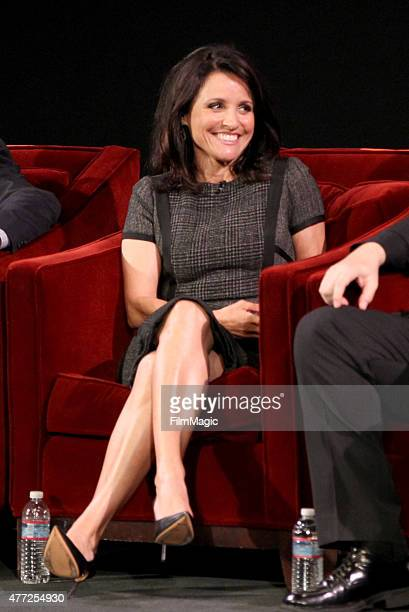Actress Julia LouisDreyfus attends HBO's 'Veep' FYC Panel at Paramount Theater on the Paramount Studios lot on June 10 2015 in Hollywood California