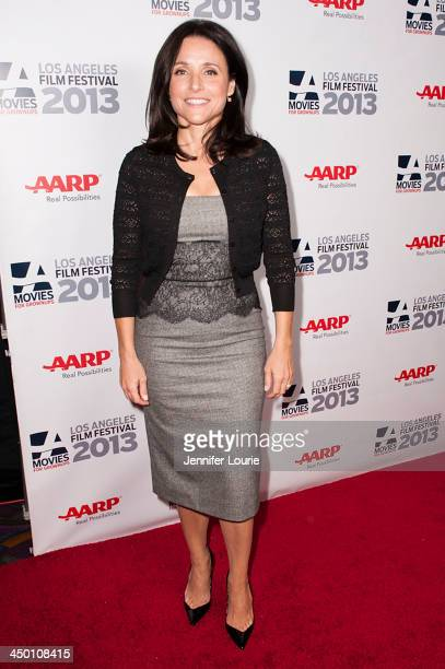 """Actress Julia Louis-Dreyfus attends the 2013 Movies For Grownups Los Angeles Film Festival's screening of """"Enough Said"""" presented by AARP at Regal..."""