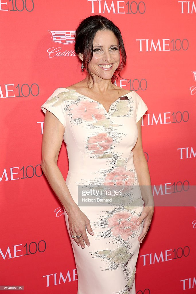 Actress Julia Louis-Dreyfus attends the 2016 Time 100 Gala at Frederick P. Rose Hall, Jazz at Lincoln Center on April 26, 2016 in New York City.