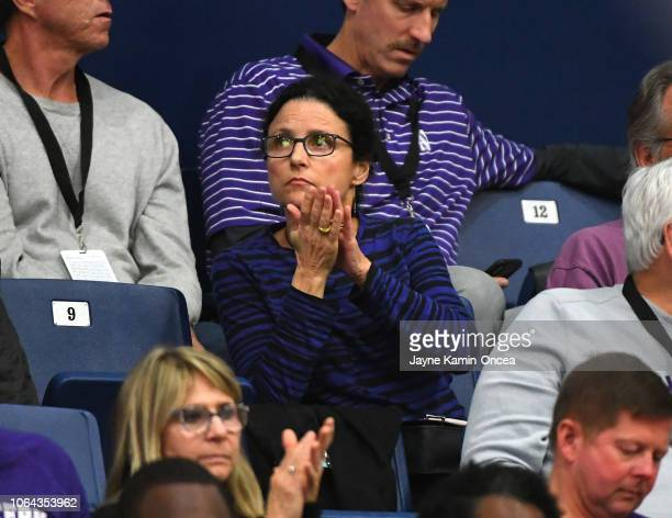 Actress Julia LouisDreyfus attends the 2018 Wooden Legacy to watch her son Charlie Hall play for the Northwestern University basketball team in the...