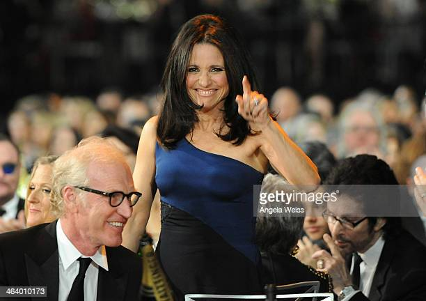 Actress Julia LouisDreyfus attends the 20th Annual Screen Actors Guild Awards at The Shrine Auditorium on January 18 2014 in Los Angeles California