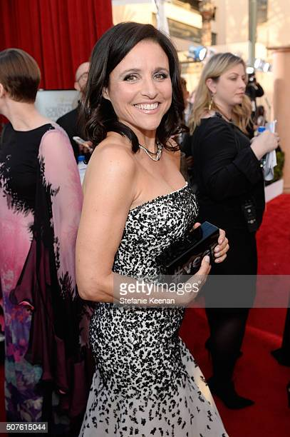Actress Julia LouisDreyfus attends The 22nd Annual Screen Actors Guild Awards at The Shrine Auditorium on January 30 2016 in Los Angeles California...